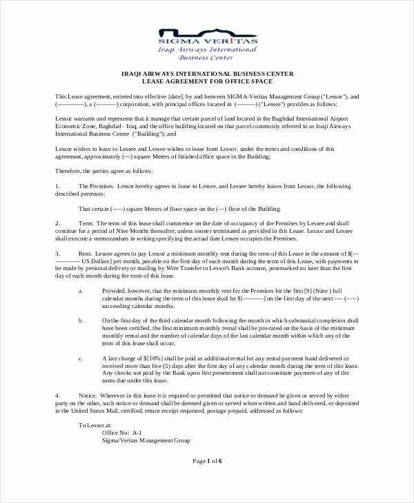 Sublease Contract 7 Free Word Pdf Documents Download