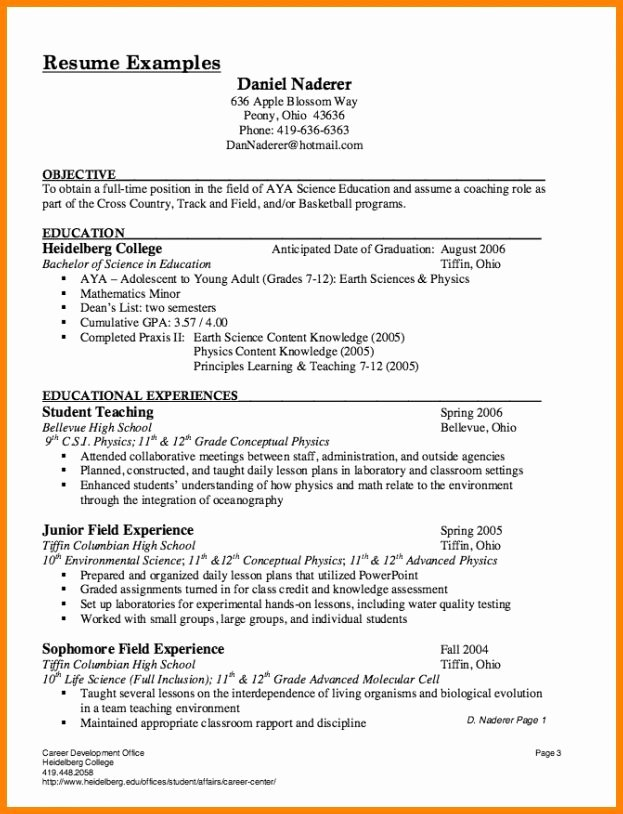 Substitute Teacher Resume Sample Best Resume Collection