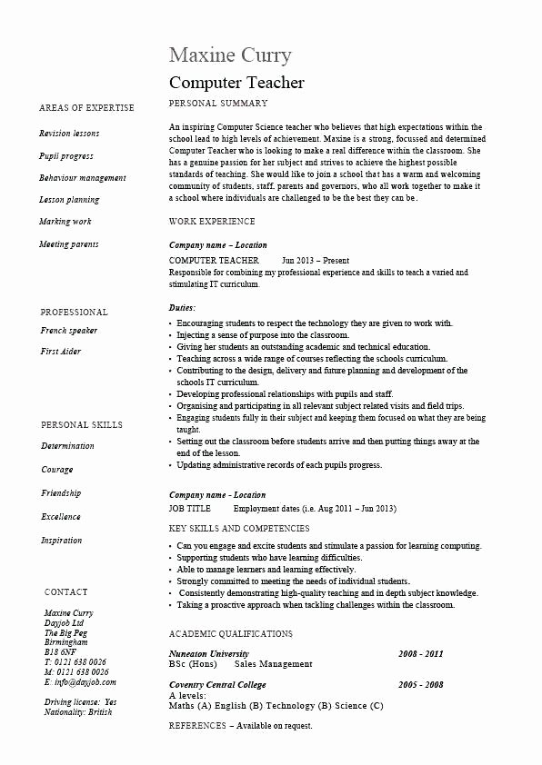 Substitute Teacher Resume Samples Sample Substitute