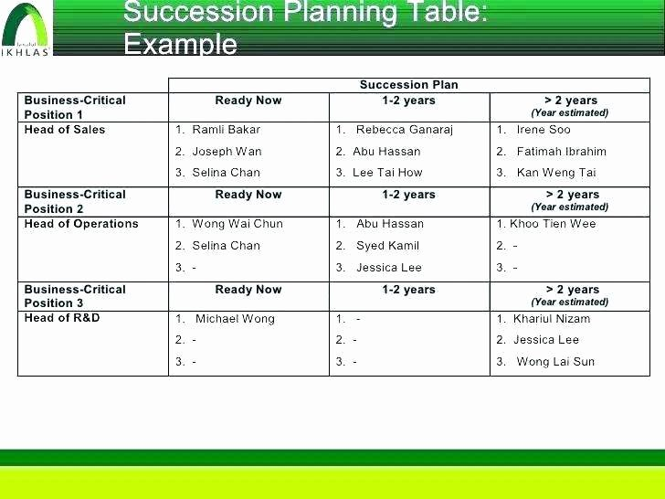 Succession Planning Template Excel Readleaf Document