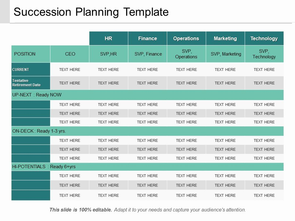 Succession Planning Template Ppt Sample Download