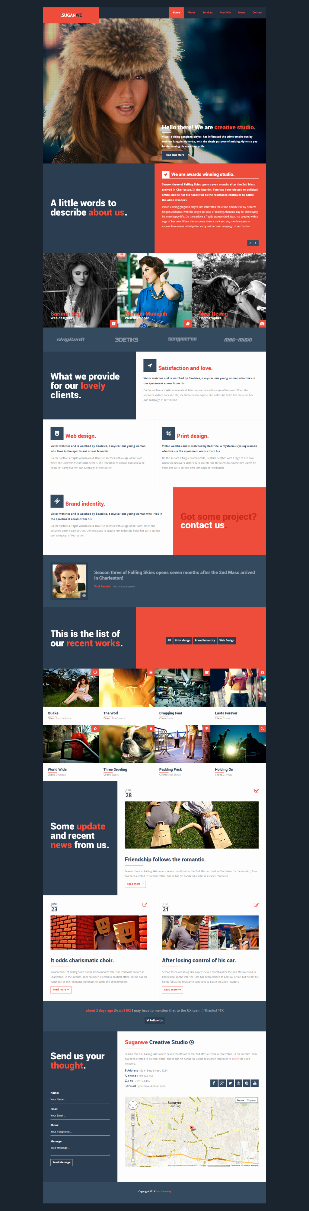 Suganwe Responsive E Page Template HTML5 by