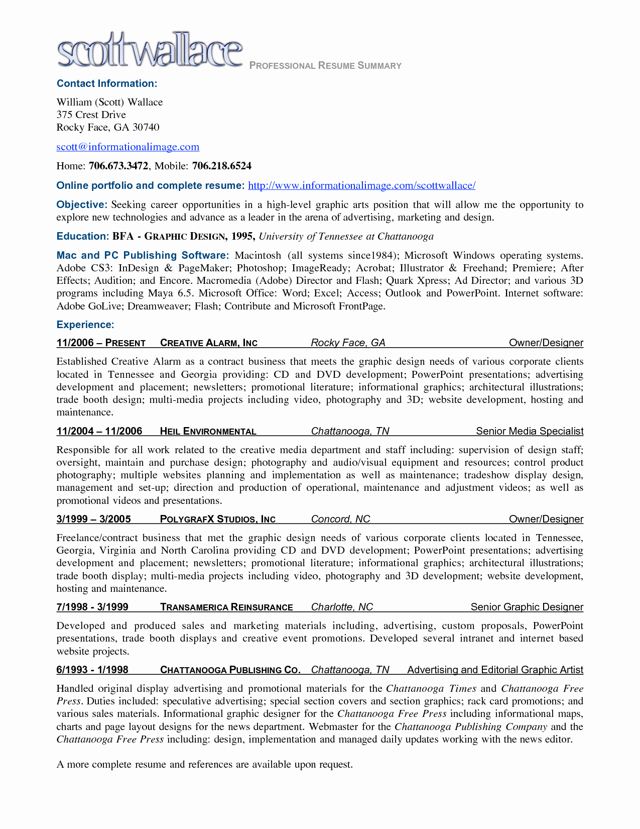 Summary for Resume Examples Samplebusinessresume