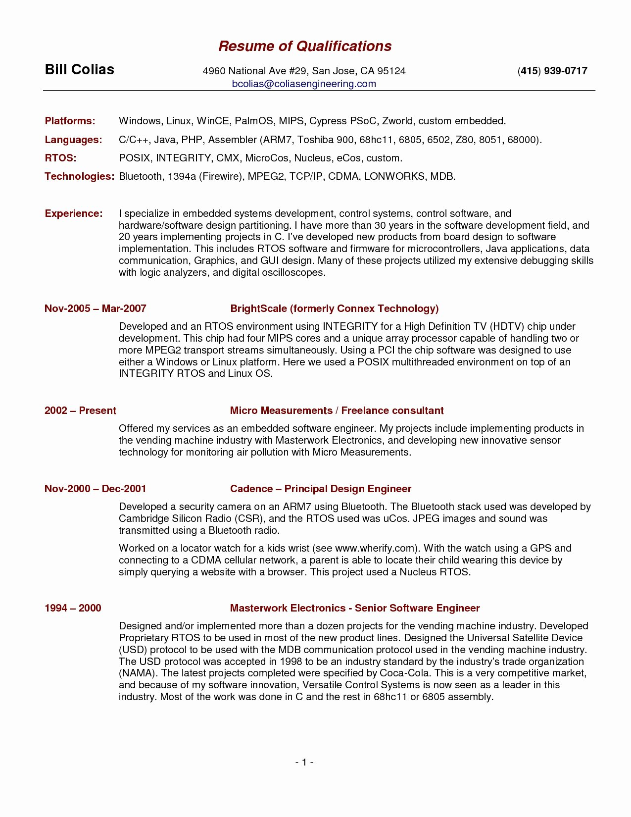 Summary Qualifications Resume Samples Resume Ideas