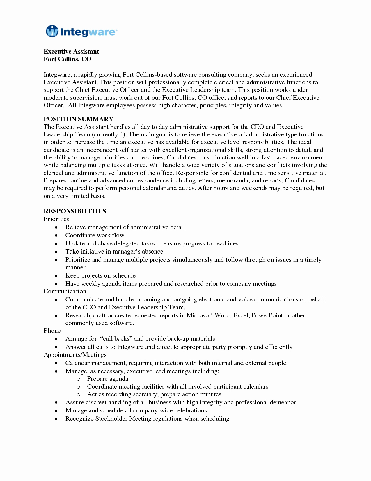 Summary Resume Examples Administrative assistant