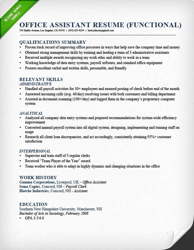 Summary Skills Resume Example Best Resume Gallery