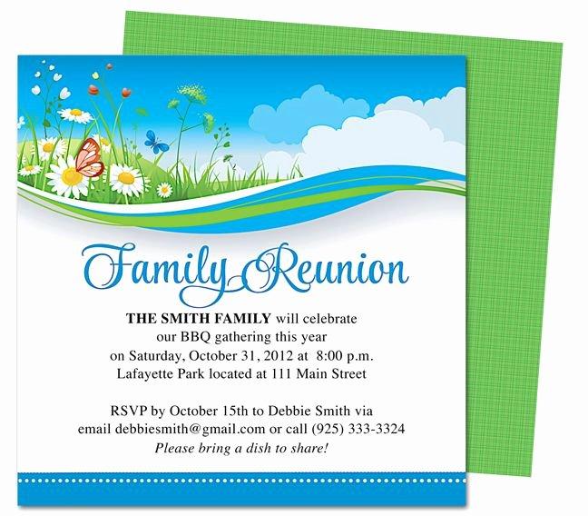 Summer Breeze Family Reunion Party Invitation Templates