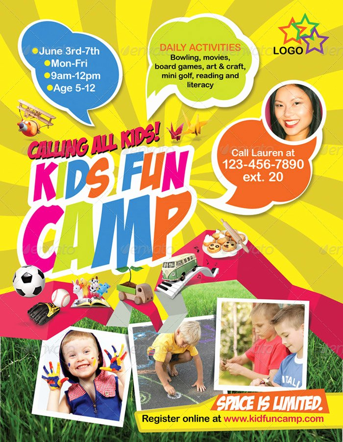 Summer Camp Flyer Template Free Yourweek Eca25e