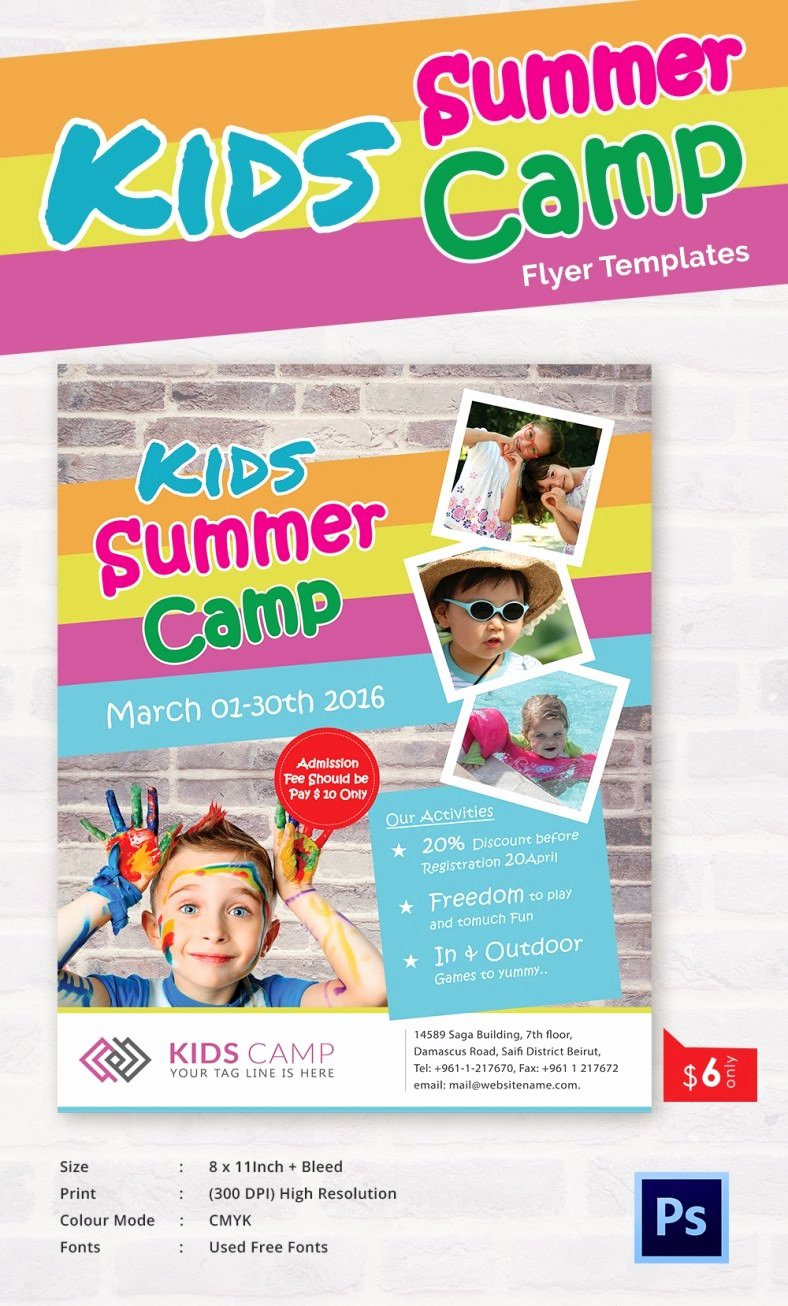 Summer Camp Flyer Templates – 47 Free Jpg Psd Esi