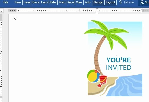 Summer Party Invitation Template for Word