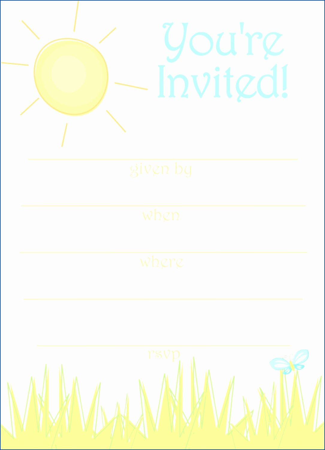 Summer Party Invitation Templates Free Yourweek