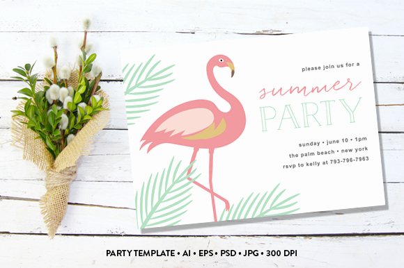 Summer Party Invite Invitation Templates On Creative Market