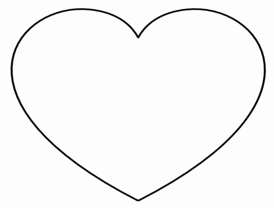 Super Sized Heart Outline Extra Printable Template