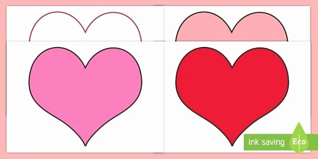 Super Sized Heart Outline Extra Printable Template T