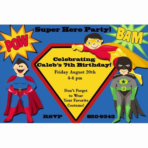 Superhero Birthday Party Invitations for Him – Free