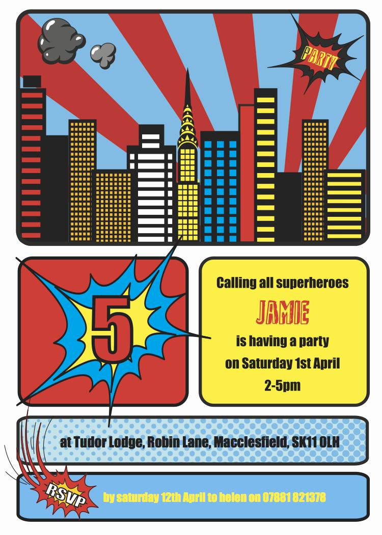 Superhero Party Invitation Templates