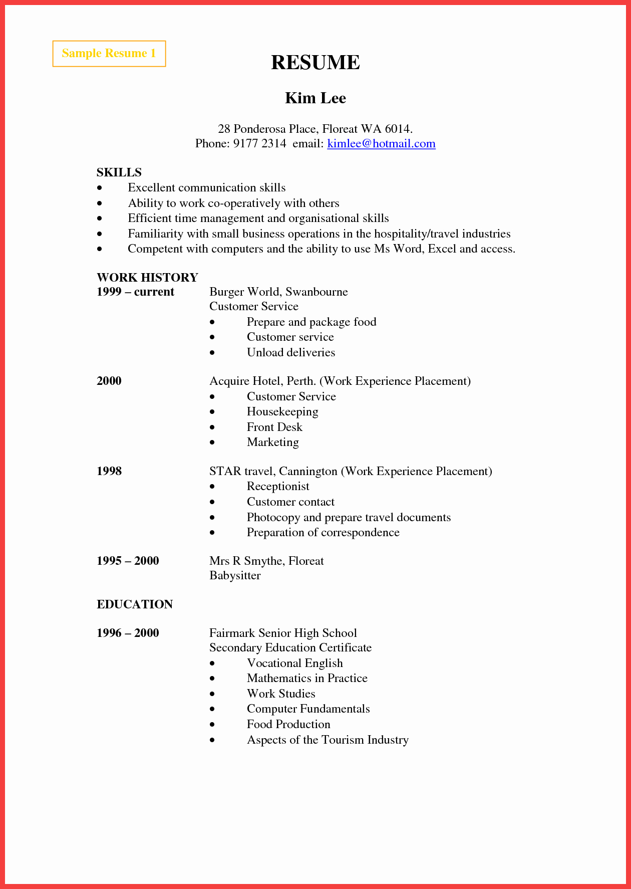 Gallery Of Grocery Store Resume Examples Cover Letter Samples
