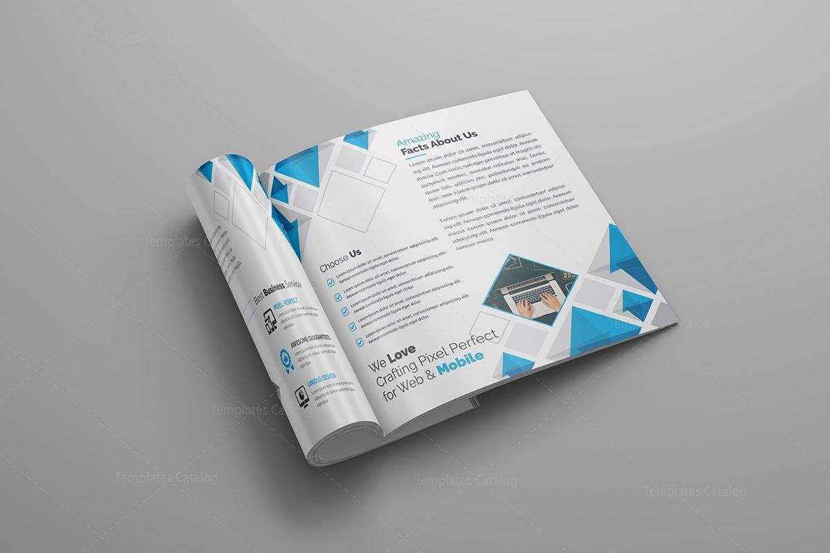 Supernova Premium Square Bi Fold Brochure Template