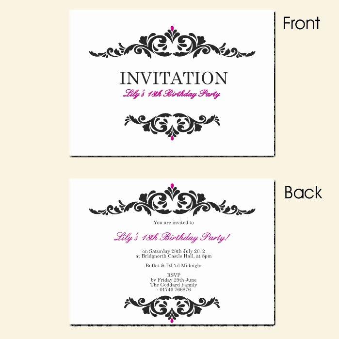 Surprise 18 Birthday Invitation – orderecigsjuicefo