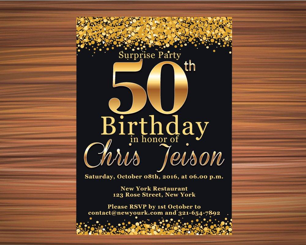 Surprise 50th Birthday Invitation Templates 50th Birthday