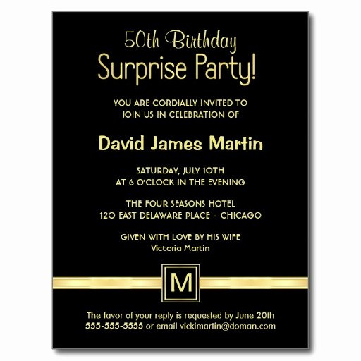 Surprise 50th Birthday Party Invitations Wording