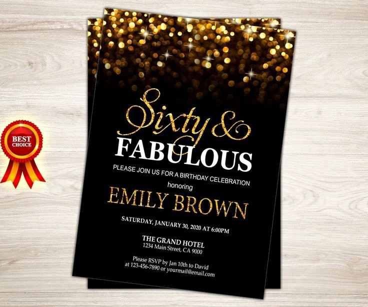 Surprise 60th Birthday Party Invitations Party – Free