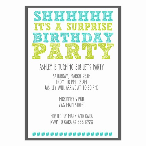 Surprise Birthday Party Invitations & Cards On Pingg