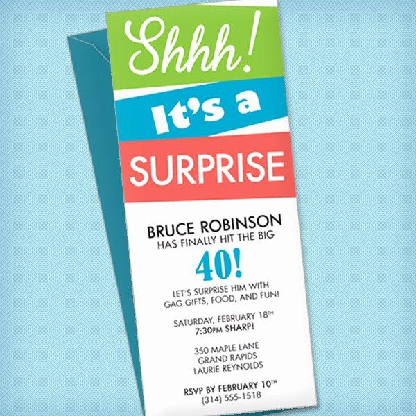 Surprise Party Invitation Template – Download & Print