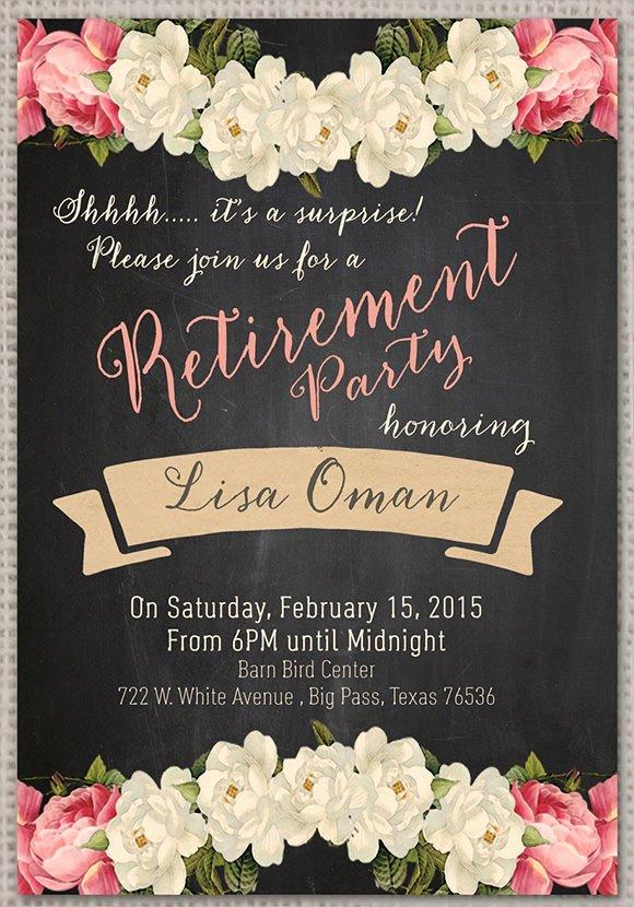 Surprise Retirement Party Invitation Samples