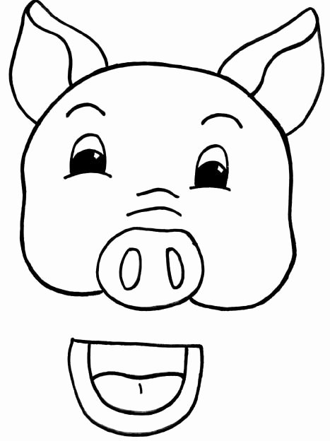 Susan Lothe Pig Paper Bag Puppet Template