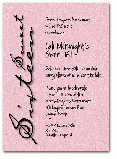 Sweet Sixteen Shimmery Pink Invitation 16th Birthday
