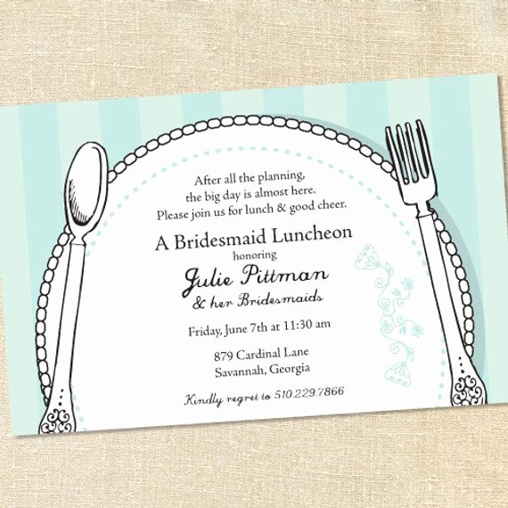 Sweet Wishes Bridal Place Setting Brunch Luncheon Invitations