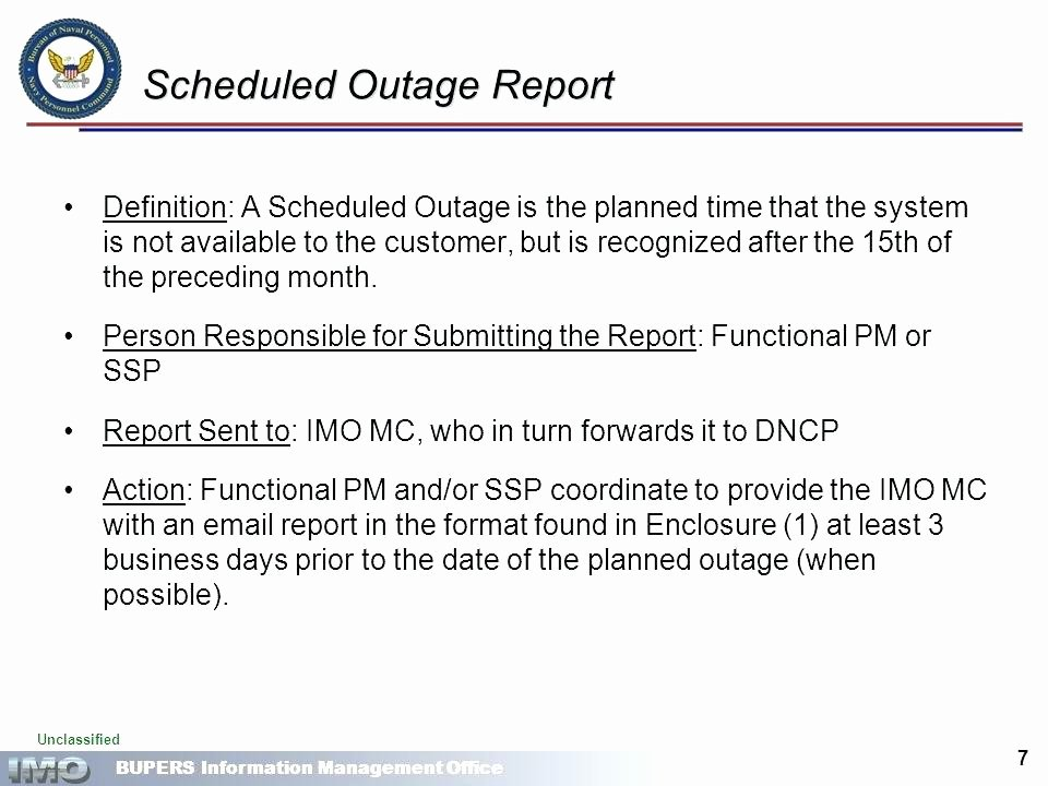 System Outage Notification Template Sap Tech Downtime