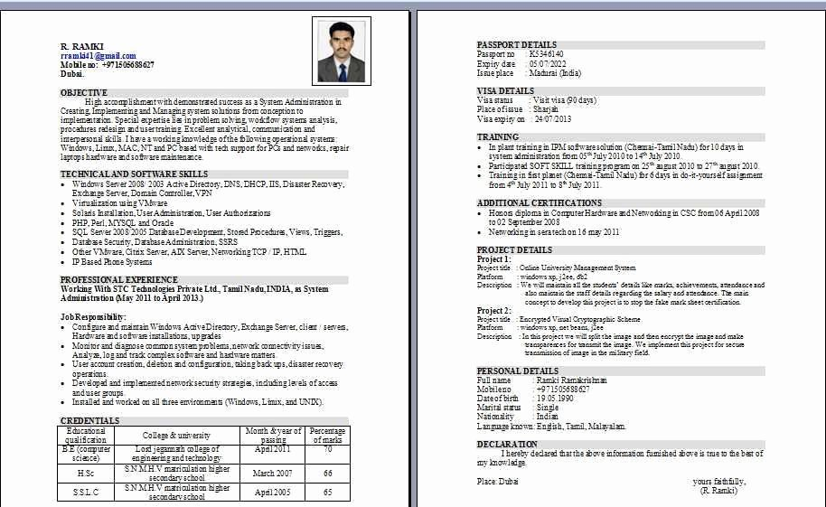 Wintel System Administrator Resume Samples Latter Example Template