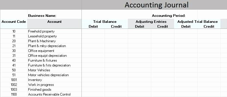 T Accounts Template Excel Full Size Spreadsheet Account