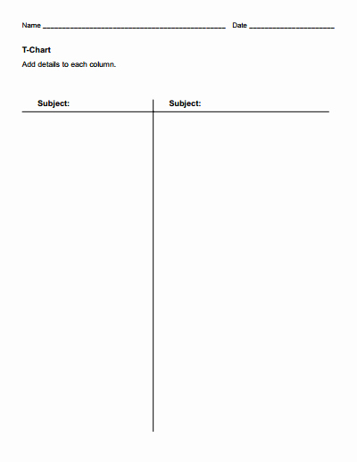 T Chart Template Free Download Create Edit Fill and