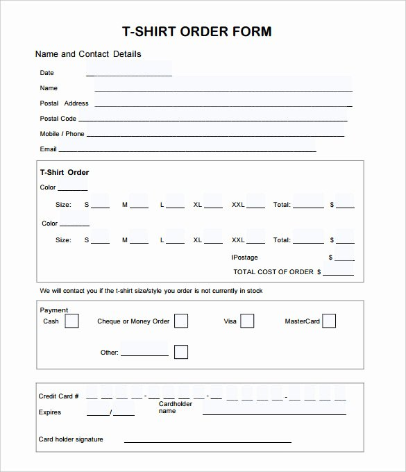 T Shirt Invoice Template T Shirt order form Template 21