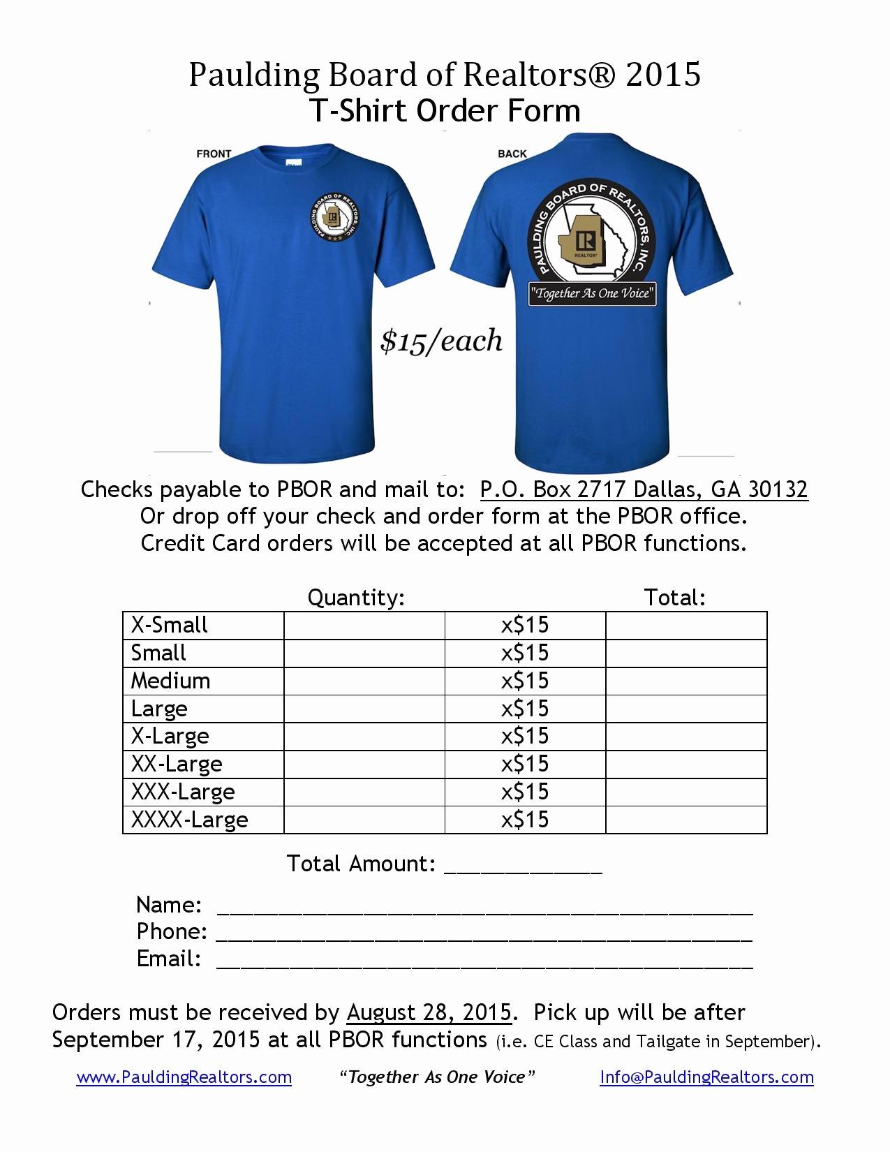 T Shirt order Custom Shirt