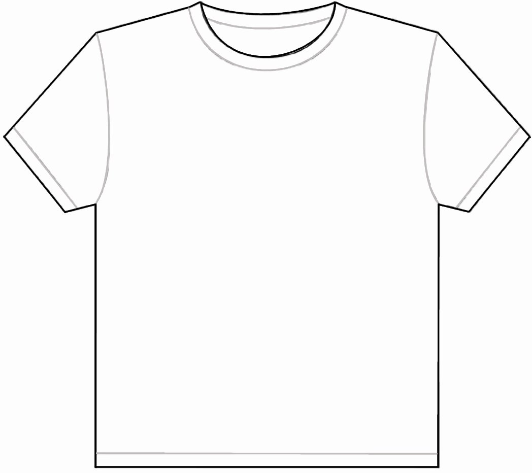 T Shirt Outline Template