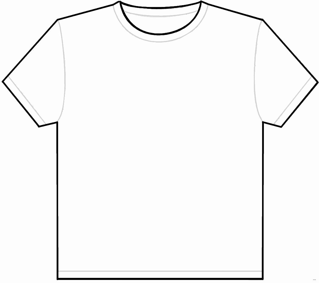 T Shirt Shape Template Beautiful Template Design Ideas