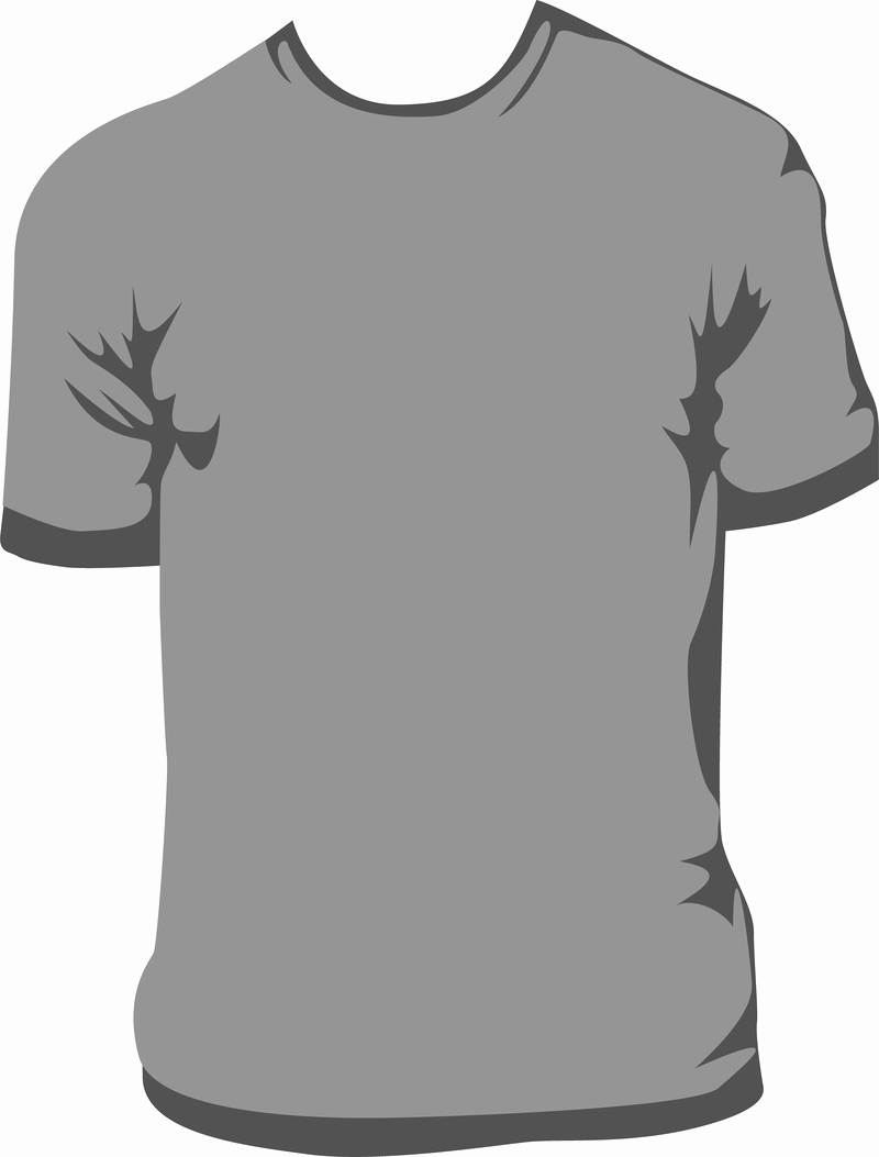T Shirt Template Vector 2 Vector