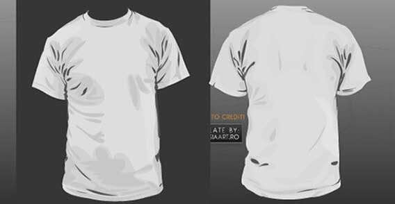 T Shirt Template Vector Free Vector In Adobe Illustrator