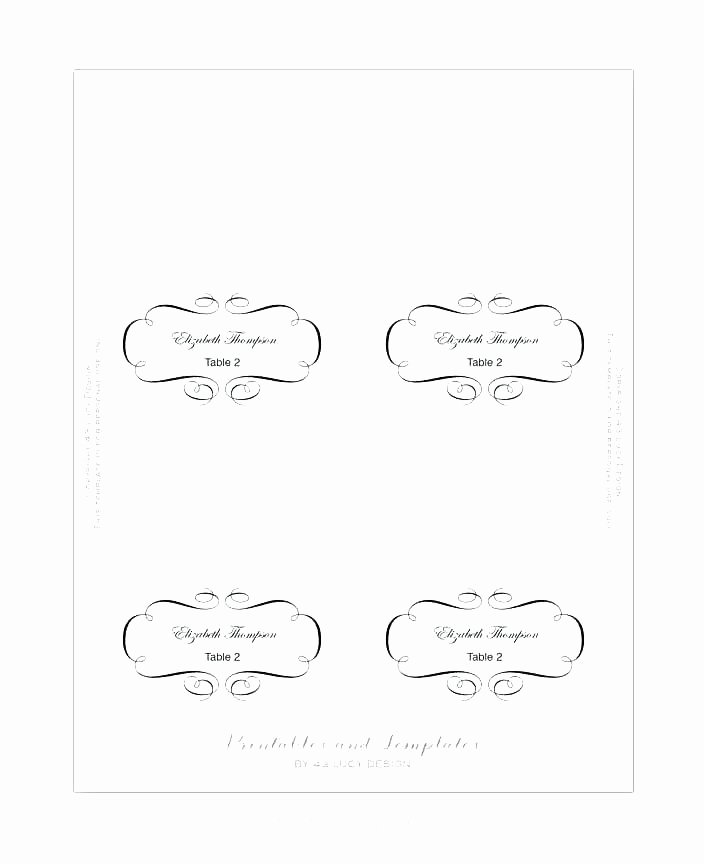 Table Card Template Free Printable Place Cards Name