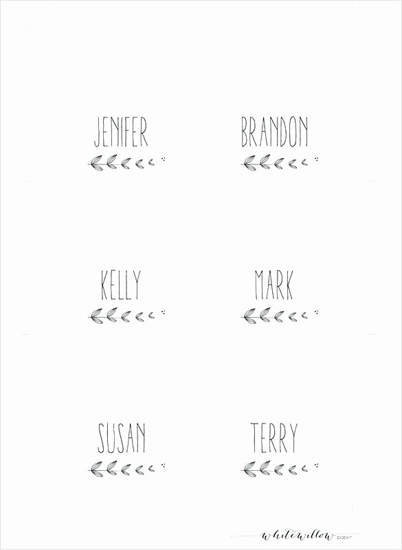 Table Name Cards Template Table Name Cards Template Free