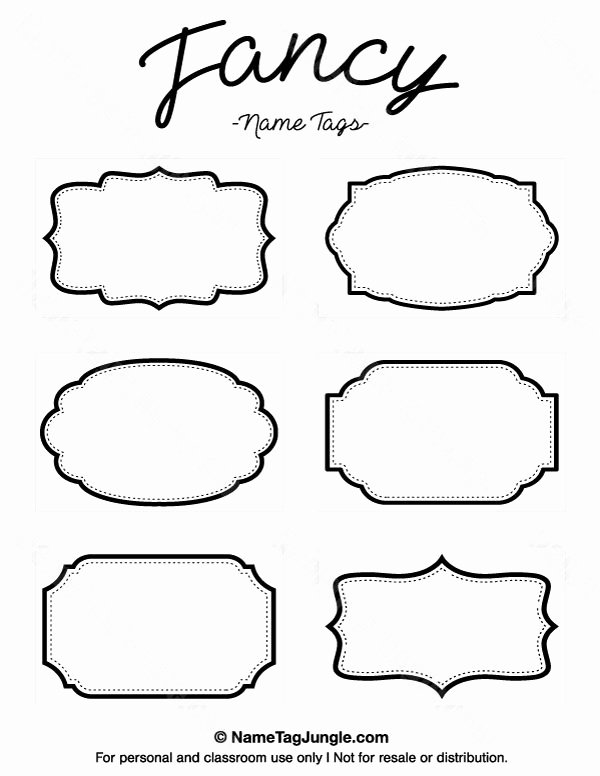 Table Name Tags Template Printable
