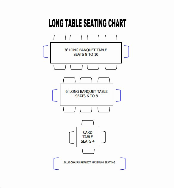 Table Seating Chart Template – 14 Free Sample Example