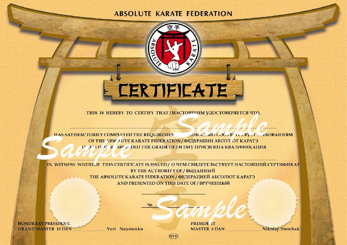 Taekwondo Certificates Hd