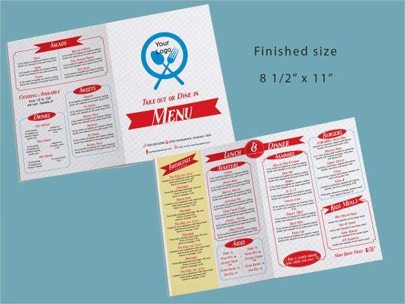 Take Out Menu Template 15 Free Psd Eps Pdf Documents