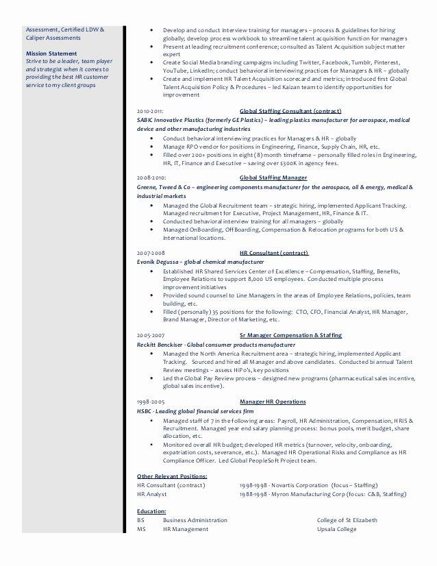 Talent Acquisition Resume Template Talent Management