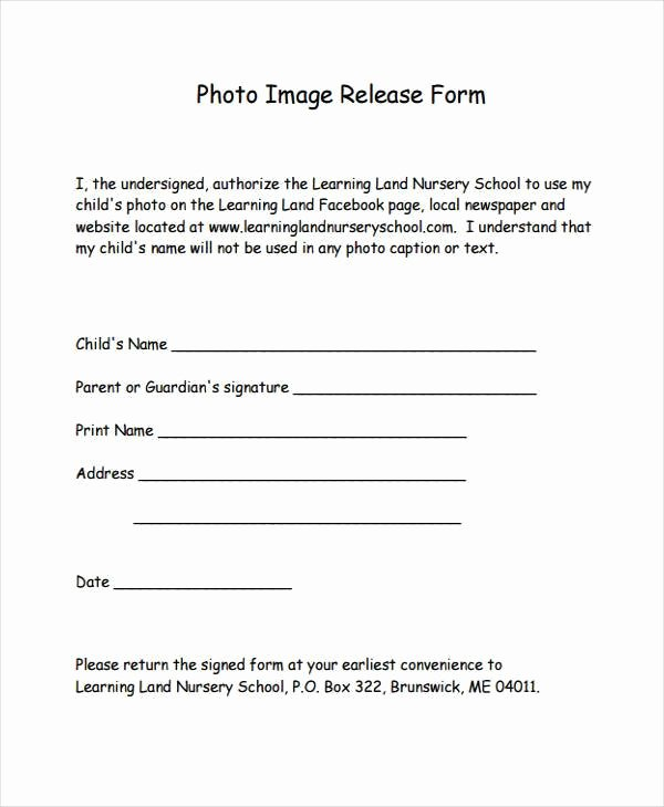 Talent Release form Template Release form Template